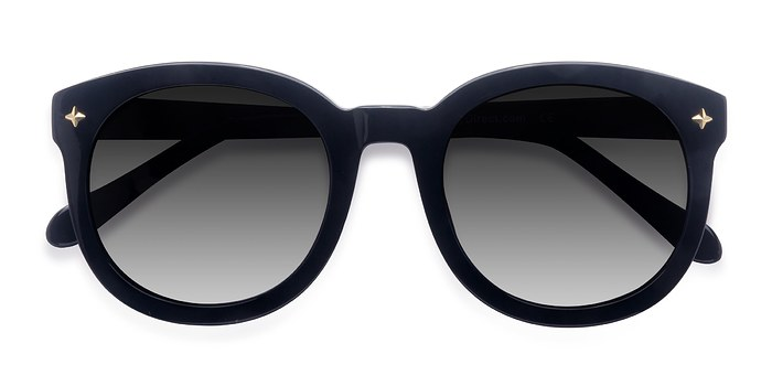 Black Paige -  Vintage Acetate Sunglasses