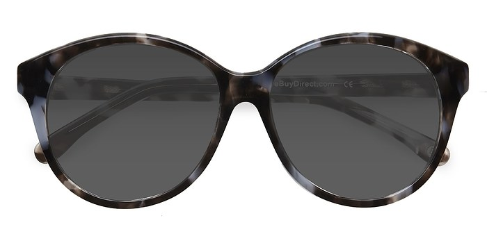 Gray Floral Stella -  Acetate Sunglasses