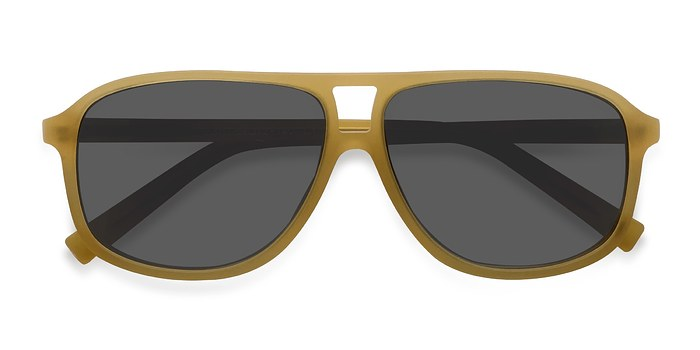 Matte Yellow Bart -  Acetate Sunglasses