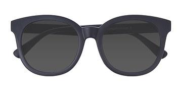 Matte Navy Elena -  Plastic Sunglasses