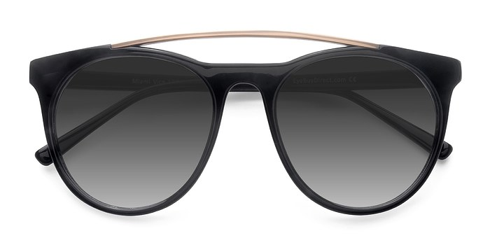 Black Miami Vice -  Acetate Sunglasses