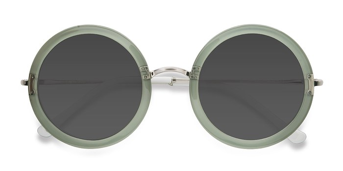 Green Joplin -  Vintage Acetate Sunglasses