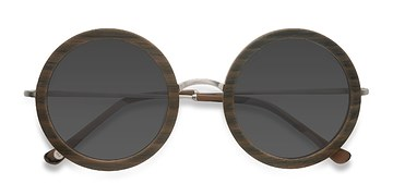 Brown Striped Joplin -  Vintage Acétate Solaires
