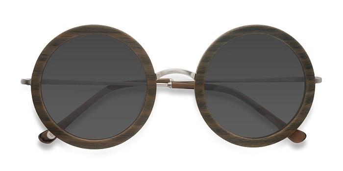 Brown Striped Joplin -  Acetate Sunglasses