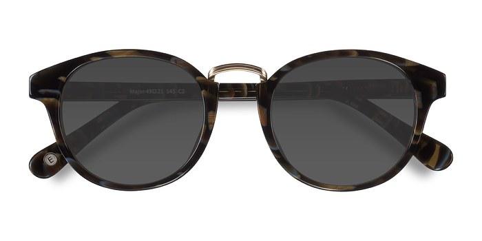 Brown Floral Major -  Acetate Sunglasses