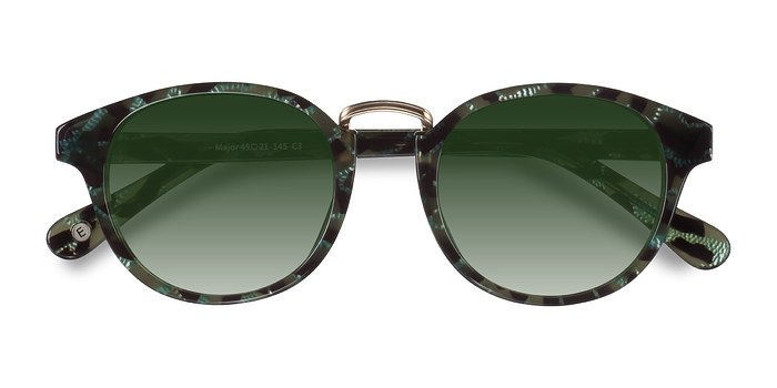 Green Major -  Acetate Sunglasses