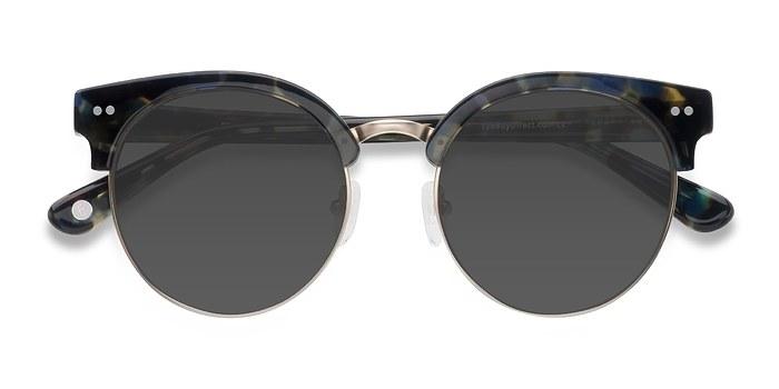 Blue Floral Silicate -  Vintage Acetate Sunglasses