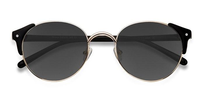 Golden Black Miaou -  Metal Sunglasses