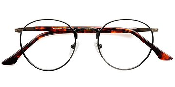 Matte Black and Tortoise Fitzgerald -  Classic Metal Eyeglasses