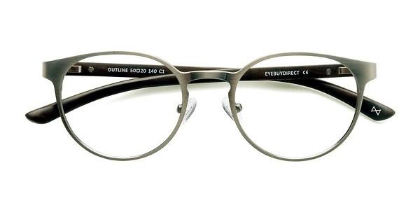 Matte Silver/Wood Outline - Rflkt Eyeglasses
