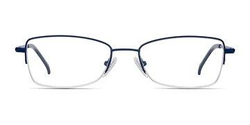 Navy Ecru -  Metal Eyeglasses