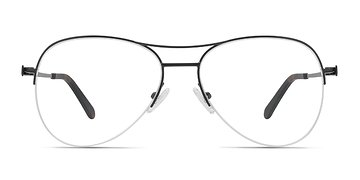 Black Dash -  Metal Eyeglasses