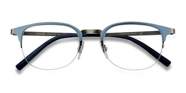Pale Blue Glasses Frames : Axiom Light Blue Metal Eyeglasses EyeBuyDirect