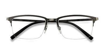 Matte Gray Logic -  Metal Eyeglasses