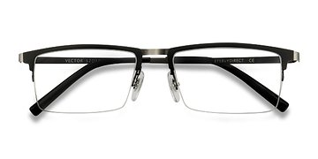 Black Vector -  Metal Eyeglasses