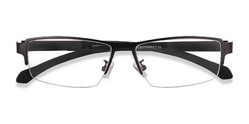Gunmetal Lewis -  Classic Metal Eyeglasses
