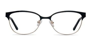 Black Golden Sapphire -  Metal Eyeglasses