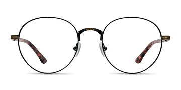 Matte Black and Tortoise Fitzgerald M -  Metal Eyeglasses