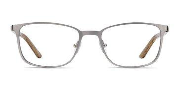 Light Gunmetal Lines -  Metal Eyeglasses