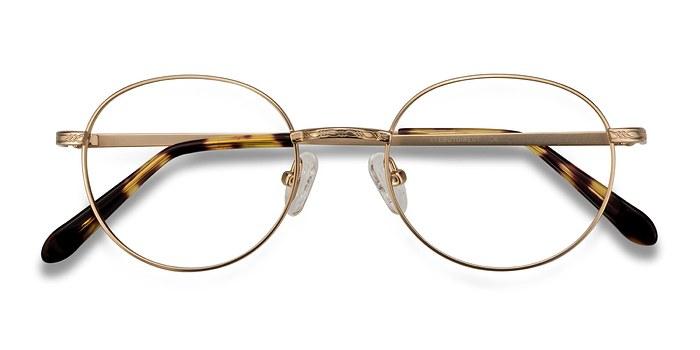 Golden Ledger -  Geek Metal Eyeglasses