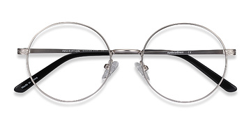 Silver Inscription -  Metal Eyeglasses