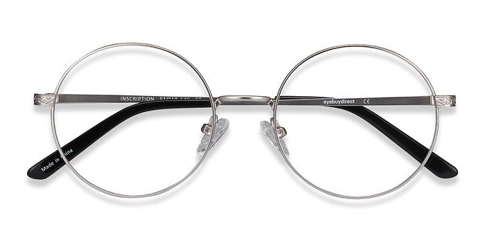 Silver Inscription -  Metal Eyeglasses