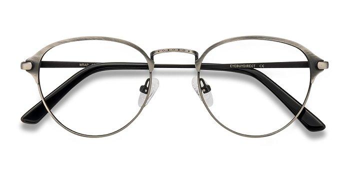 Gunmetal Wrap -  Metal Eyeglasses