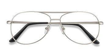 Matte Silver Discover -  Metal Eyeglasses