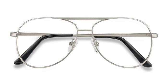 Matte Silver Discover -  Vintage Metal Eyeglasses