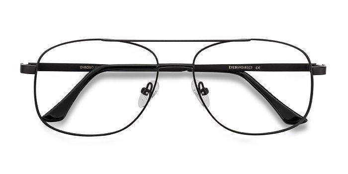Matte Black Chronicles -  Metal Eyeglasses