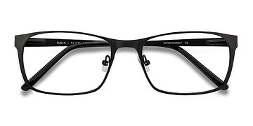 Matte Black Dublin -  Metal Eyeglasses