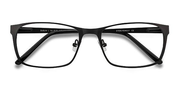 Dublin Matte Black Metal Eyeglasses EyeBuyDirect