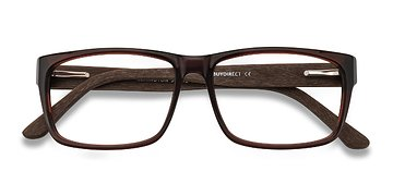 Brown Lexington -  Classic Wood Texture Eyeglasses