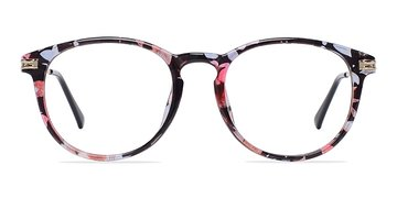 Blue/Floral Muse -  Fashion Plastic Eyeglasses