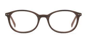 Brown/Striped Get around -  Fashion Wood Texture Eyeglasses
