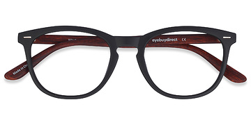 Black/Brown Yolo -  Geek Plastic Eyeglasses