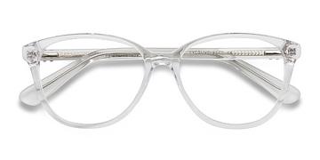 Clear/White Hepburn -  Fashion Acetate Eyeglasses