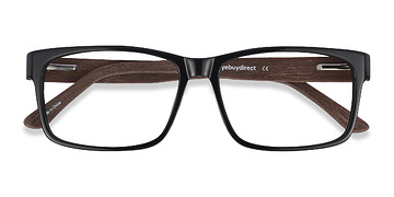 Black/Gray Lexington -  Classic Acetate Eyeglasses
