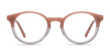 Translucent Striated Rose Fade -  Designer Acetate Eyeglasses