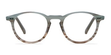 Green Striped  Kyoto -  Acetate Eyeglasses