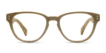 Yellow Light Year -  Fashion Wood Texture Eyeglasses