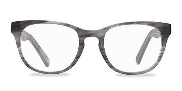 Gray Stirped Confidence -  Fashion Acetate Eyeglasses