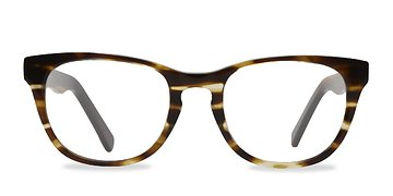 Brown Striped Confidence -  Fashion Acetate Eyeglasses