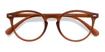 Matte Brown Peninsula -  Plastic Eyeglasses