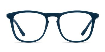Matte Navy Central -  Plastic Eyeglasses