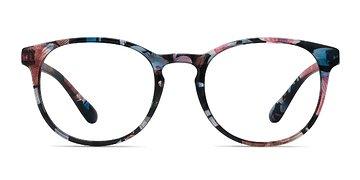 Blue Floral Little Muse -  Plastic Eyeglasses