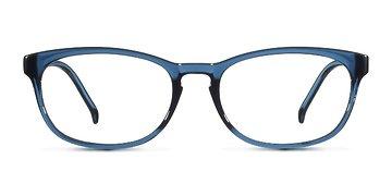 Matte Clear Blue Little Drums -  Plastic Eyeglasses