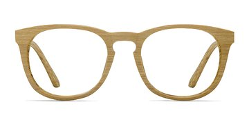 Yellow Providence M -  Wood Texture Eyeglasses
