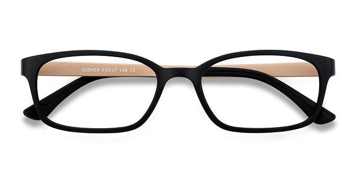 Black & Tan Clover -  Classic Plastic Eyeglasses