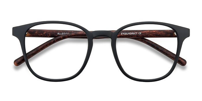Matte Black Allegory -  Plastic Eyeglasses